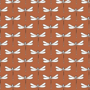 Minimal dragonfly abstract insects animal design trend fall winter rust copper