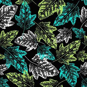 Grunge leaves fall pattern
