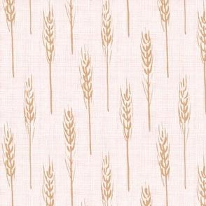 wheat - Rose Gold linen