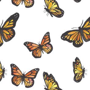 Watercolor_monarch_butterflies_-_large