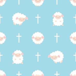 Blue Baby Sheep Baptism