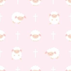 Baby Sheep Pink Baptism
