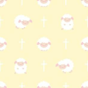 Baby Sheep Yellow Baptism