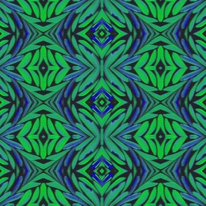 leafy - green and blue