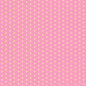 Strawberry Vanilla polka dots - Small Scale