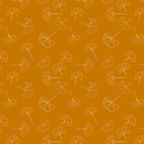 Mustard ginko leaf