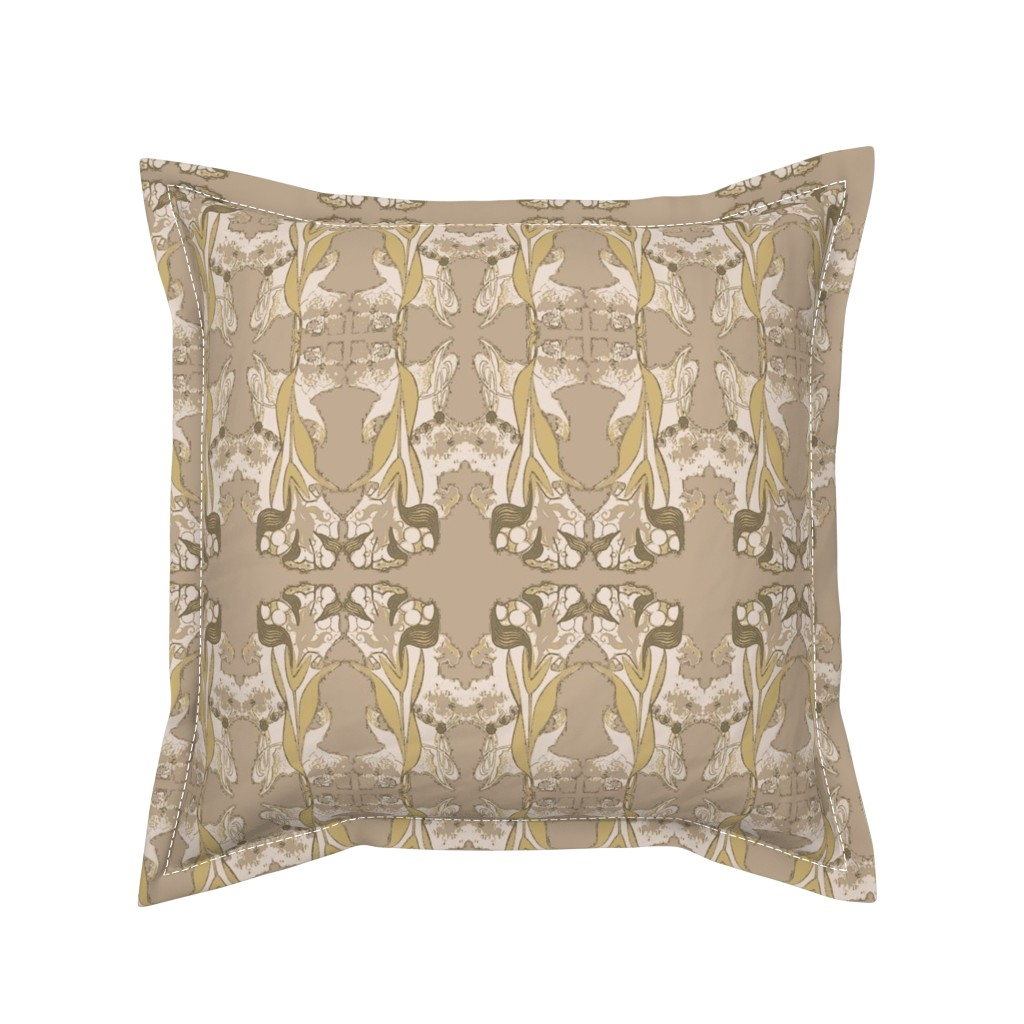 Serama Throw Pillow featuring Subtle Nouveau by whimzwhirled