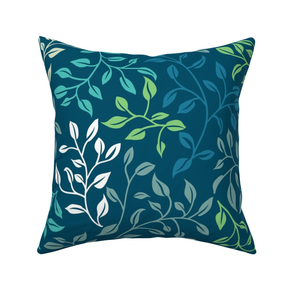 Catalan Throw Pillow featuring Leafy Tangle by creativeinchi