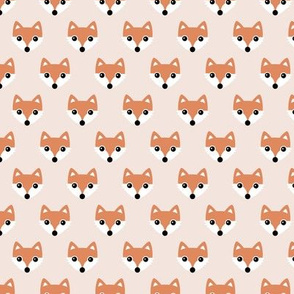 Little sweet fox friends minimal halloween fall foxes orange off white
