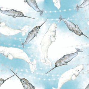 Narwhal And Beluga Whales