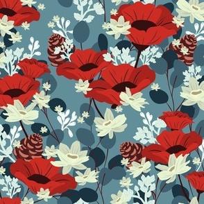 Gardenia Floral V02 - Blue
