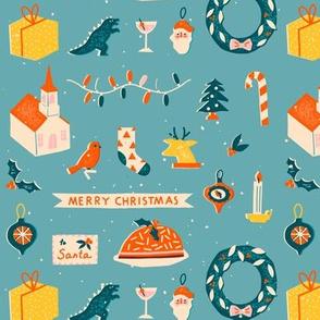 Christmas in light blue