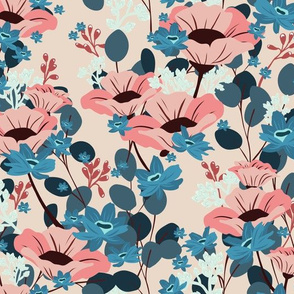 Gardenia Floral V03 - Beige