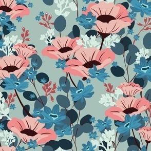 Gardenia Floral V03 - Teal