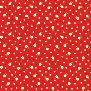 Midsummer Strawberry Flowers Ditsy