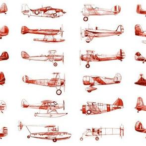 Airplanes in Vintage Red