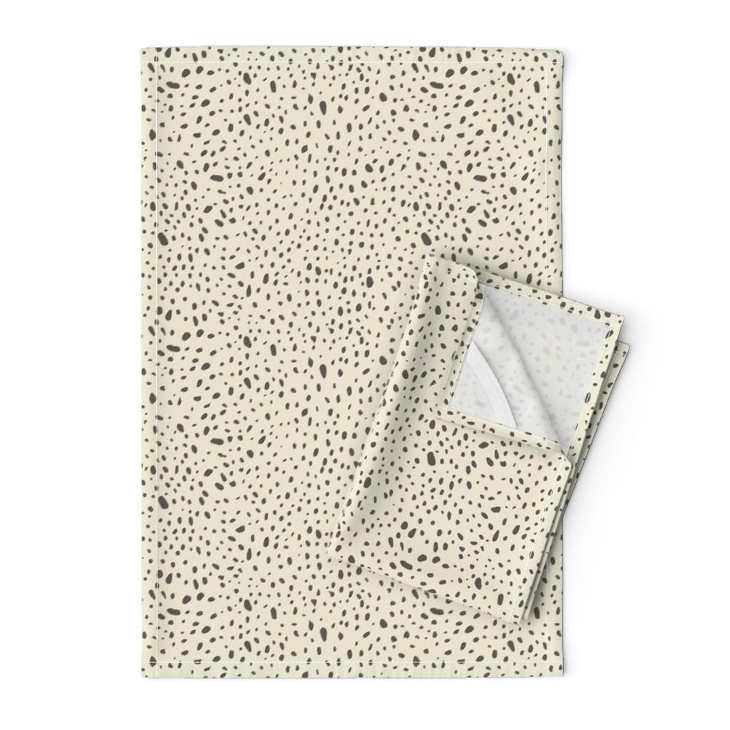 Orpington Tea Towels featuring Pebble Galaxy - Brown on Cream - © Autumn Musick 2019 by autumn_musick
