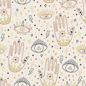 Moon & Hand / Boho Collection