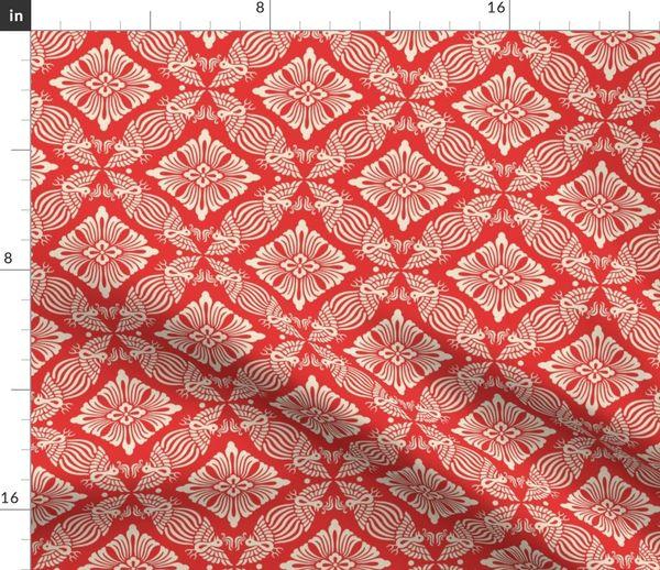 Tissu Au Mètre Abstrait Asiatique Chinois Japonais Kimono Victorien
