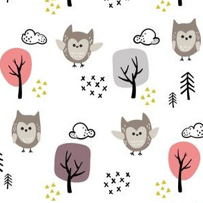 Woodland Animals Owl V2 - Girls