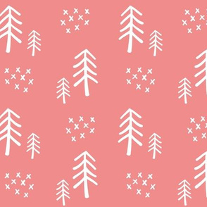 Woodland Trees V2 Girls - Pink