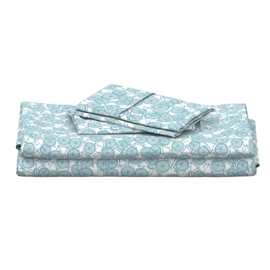Langshan Full Bed Set featuring Baby Bicycle Ice by spellstone