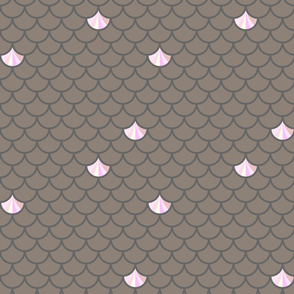 Fish scales in pink and grey
