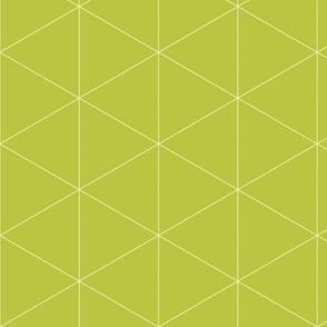 Kimetsu Gakuen School Uniform Beige White Triangle Hexagons Lines on Chartreuse Yellow-Green