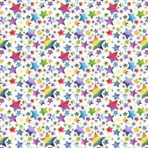 Rainbow Stars on White - Small