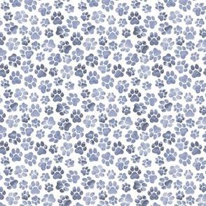 Blue Pawprints on White - Small