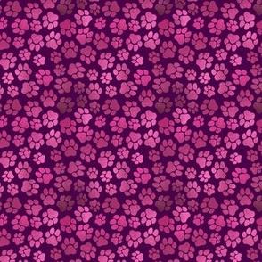 Magenta Pawprints - Small