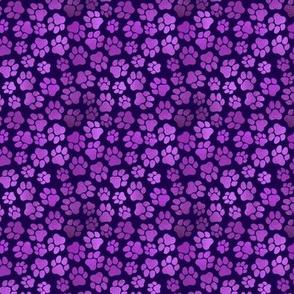 Purple Pawprints - Small