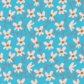 Flowering vine_blue_Solvejg Makaretz