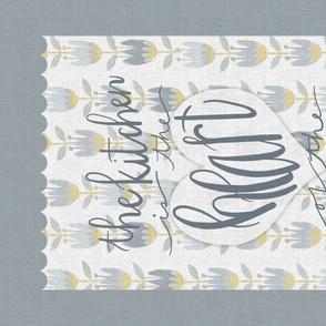 Hand Lettered Kitchen Tea Towel