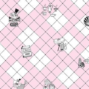 Alice in Wonderland {Pink Check}
