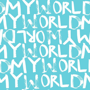 My World in Bright Aqua