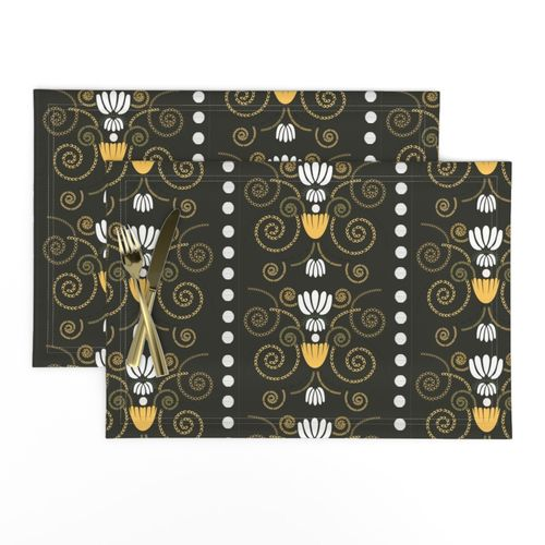 Shop Fleur de lis Cloth Placemats, Table Runners and Round ...