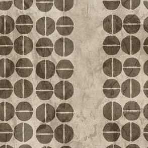 19-13n Abstract Jumbo Wine Dots Batik Taupe Tan Brown Fall Autumn