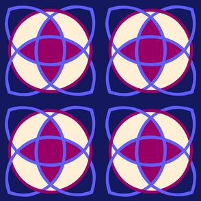 Nucleus Dark Blue Magenta Star
