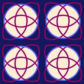 Nucleus Magenta with Blue Cream