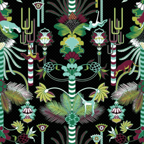 Jungle Fantasy (Greenery/Black)