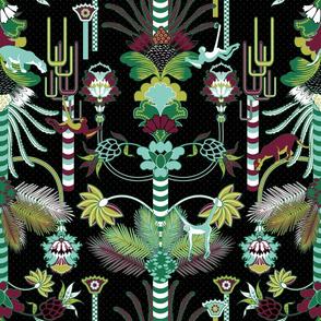 Jungle Fantasy (Greenery/Black)