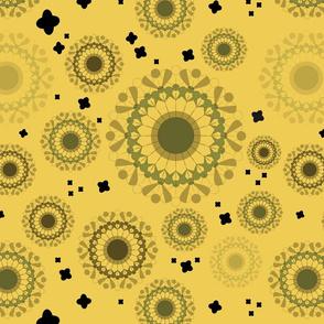 Autumnal doily - Yellow