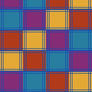 Four Color Blocks in 1990s Colors