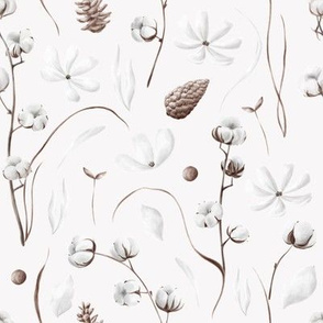 Cotton / Trendy Leaf