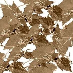 grape tendril pattern taupe
