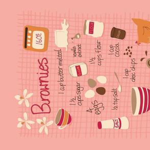 Brownies Tea Towel