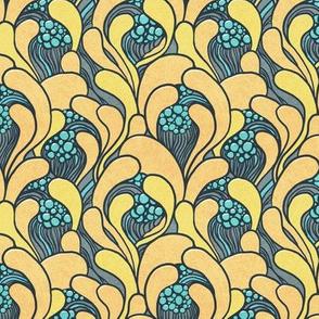 Art nouveau floral waves (Smaller scale)