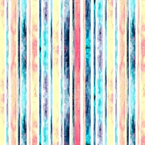 Watercolor Stripes - Pastel (Small Vertical Version)