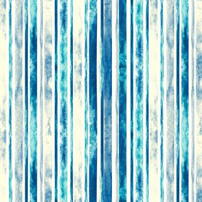 Watercolor Stripes - Blue (Small Vertical Version)